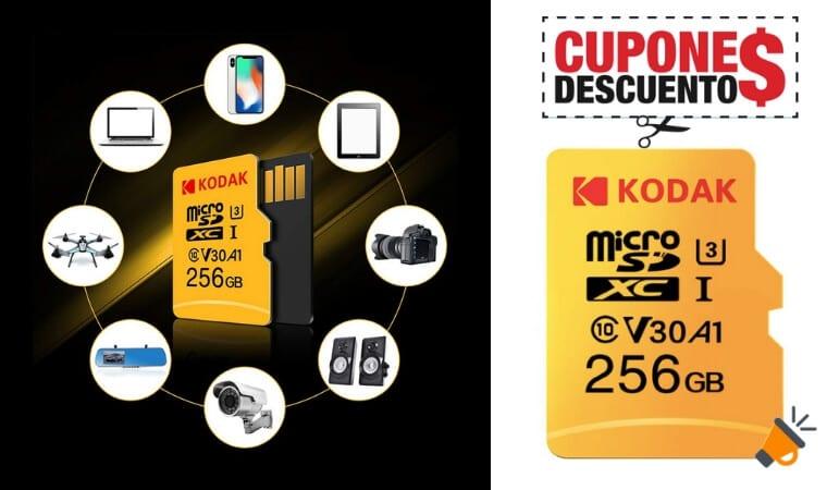 OFERTA Kodak Tarjeta MicroSD 256GB BARATA SuperChollos