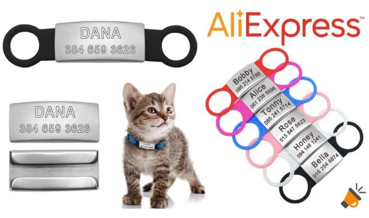 oferta Chapa identificativa de collar para mascotas barato SuperChollos