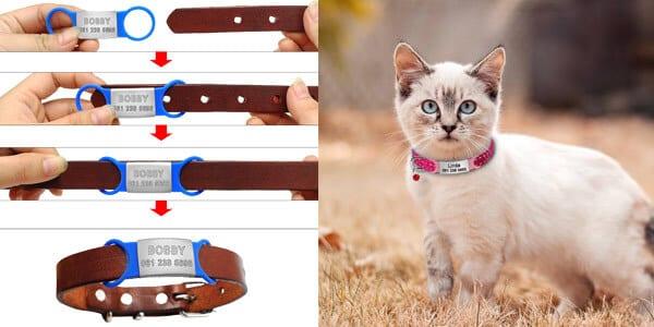 Chapa identificativa de collar para mascotas barata SuperChollos