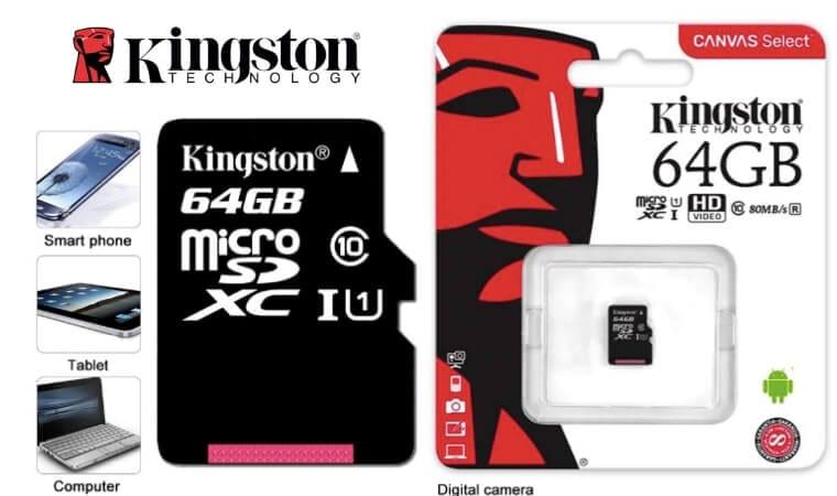 oferta Tarjeta de memoria microSD Kingston de 64 GB barata SuperChollos