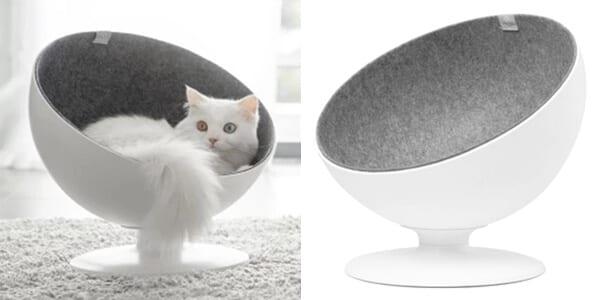 cama nido sillon gato disen%CC%83o pop plastico fieltro esfera blanco furrytail chollo banggood SuperChollos