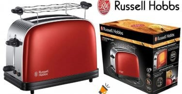 OFERTA Russell Hobbs Colours Red Tostadora BARATA SuperChollos