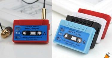 oferta Reproductor MP3 con forma de cassette barato SuperChollos
