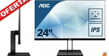oferta AOC 24V2Q Monitor barato SuperChollos
