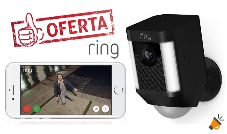 oferta Ring Spotlight camara seguradad barata SuperChollos