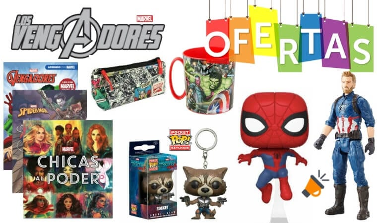 oferta merchandising vengadores baratos SuperChollos