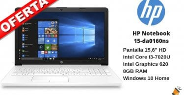oferta HP Notebook 15 da0160ns barato SuperChollos