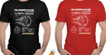oferta Camiseta Halco%CC%81n Milenario barata SuperChollos
