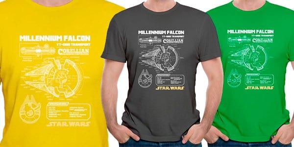 Camiseta Halco%CC%81n Milenario barata SuperChollos