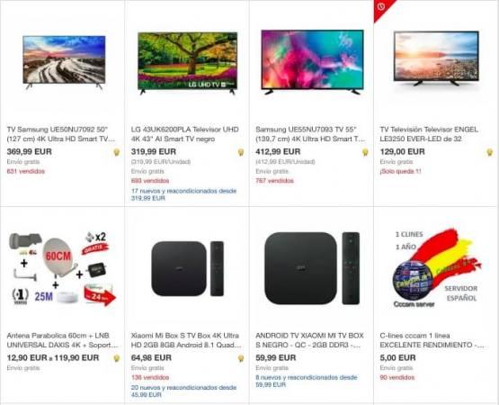 televisones ebay SuperChollos