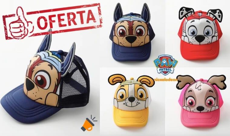 OFERTA gorras infantiles de La Patrulla Canina BARATAS SuperChollos