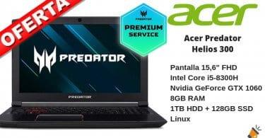oferta Acer Predator Helios 300 barato SuperChollos