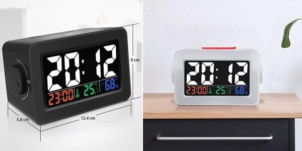 Reloj despertador Digoo DG C1R barato SuperChollos