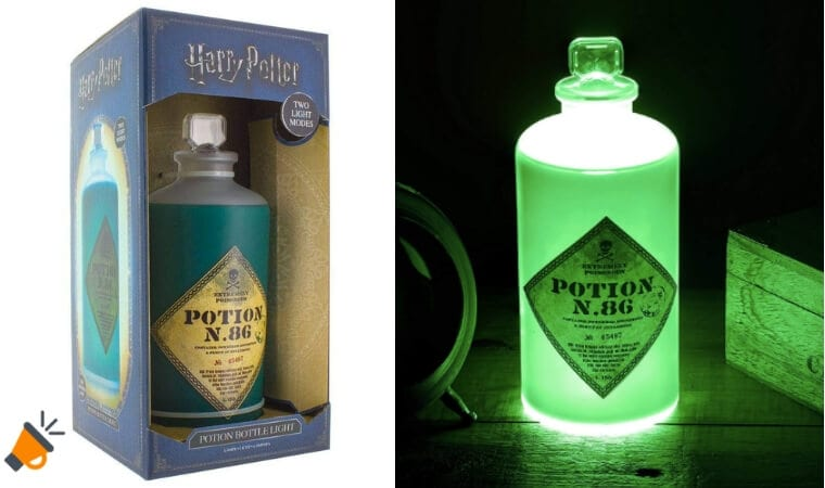 OFERTA La%CC%81mpara Harry Potter Potion Bottle 3D BARATA SuperChollos