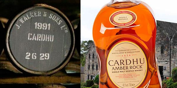 Whisky Escoce%CC%81s Cardhu Amber Rock barato SuperChollos