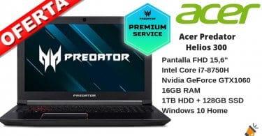 OFERTA Acer Predator Helios 300 PH315 51 76VB BARATO SuperChollos