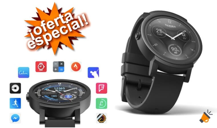 oferta Ticwatch E Express Reloj inteligente barato SuperChollos