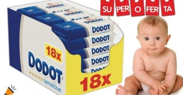 oferta toallitas Dodot Sensitive baratas SuperChollos