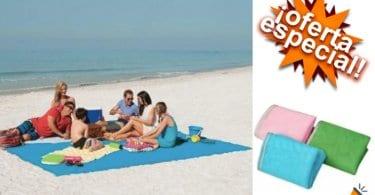 oferta Toalla de playa extensible barata SuperChollos