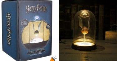oferta La%CC%81mpara USB Snitch Dorada de Harry Potter barata SuperChollos