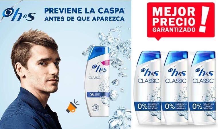 oferta Head Shoulders Classic Anticaspa Champu%CC%81 barato SuperChollos