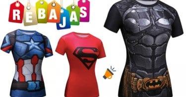 OFERTA Camisetas de superhe%CC%81roes para mujer BARATAS SuperChollos