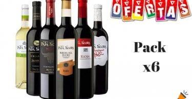 ofertaLote 6 botellas de vino Pata Negra barato SuperChollos