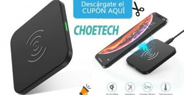 oferta cargador inala%CC%81mbrico CHOETECH barato SuperChollos
