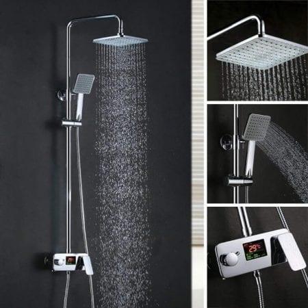Columna de ducha hidroele%CC%81ctrica Homelody barata SuperChollos