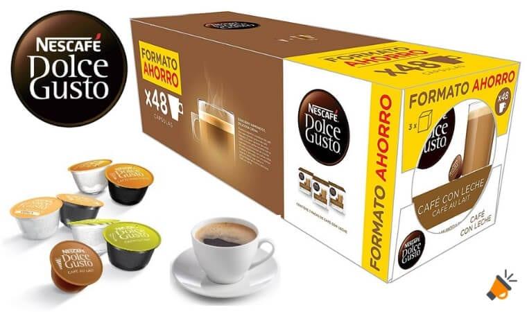 oferta ca%CC%81psulas Cafe%CC%81 con leche Nescafe%CC%81 Dolce Gusto baratas1 SuperChollos