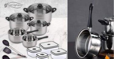 oferta San Ignacio PK1412 Premium BATERIA cocina barata SuperChollos