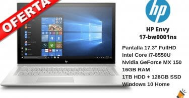 oferta HP Envy 17 bw0001ns barato SuperChollos