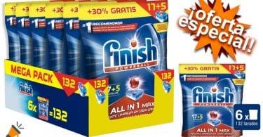 oferta Finish Todo en 1 pastillas lavavaillas baratas SuperChollos
