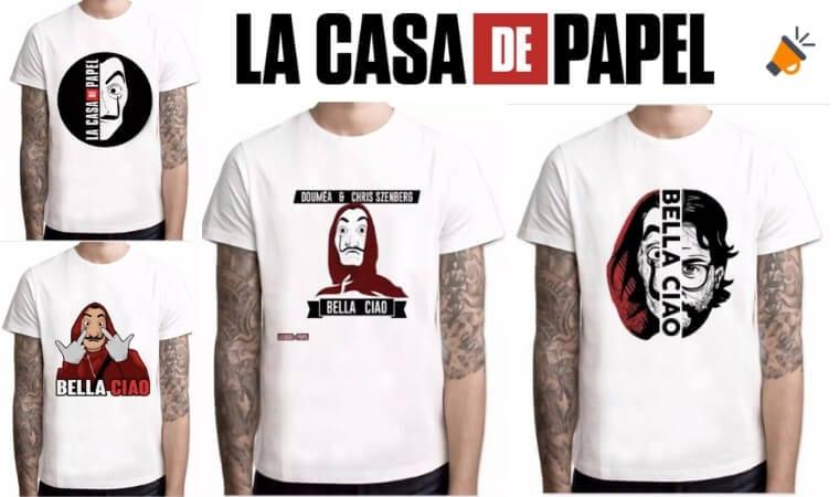 OFERTAS CAMISETAS LA CASA DE PAPEL BARATAS SuperChollos