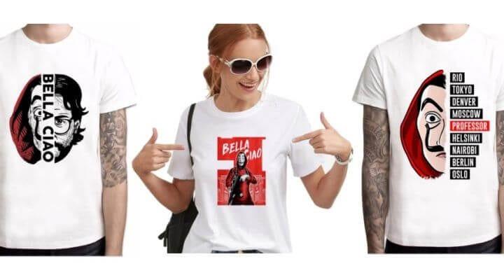 la casa de papel camisetas SuperChollos