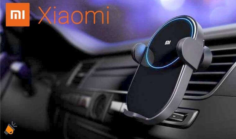 oferta cargador inalambrico para coche Xiaomi barato SuperChollos
