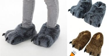 oferta Zapatillas Big Foot de peluche baratas SuperChollos