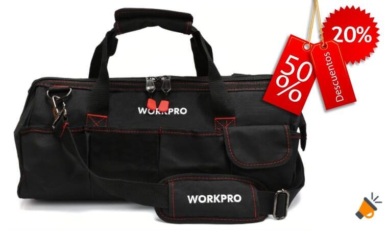 oferta Bolsa de herramientas Workpro barata SuperChollos