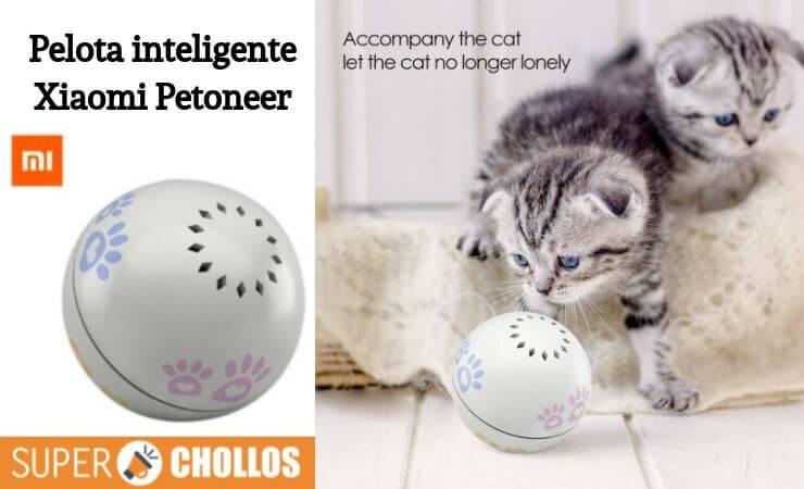 Pelota inteligente gatos Xiaomi Petoneer barata oferta chollo SuperChollos