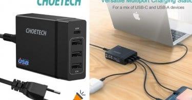 oferta Cargador Mo%CC%81vil Con 3 Puertos USB barato SuperChollos