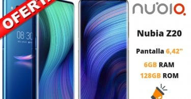 oferta Nubia Z20 barato SuperChollos