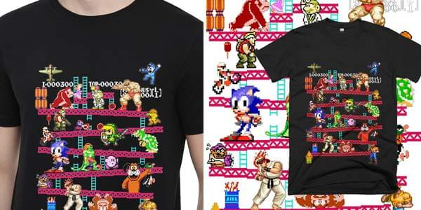 Camisetas gaming retro baratas SuperChollos