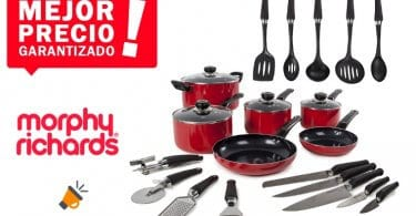 oferta set de cocina Morphy Richards barato SuperChollos