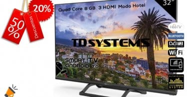 oferta TD Systems K32DLX9HS smart tv barata SuperChollos