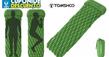 oferta TOMSHOO Colcho%CC%81n Inflable barato SuperChollos