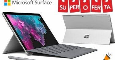 oferta Porta%CC%81til convertible Microsoft Surface Pro 6 desde solo 749%E2%82%AC barato SuperChollos