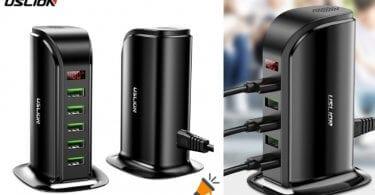 oferta Estacio%CC%81n de carga USB USLION barata SuperChollos