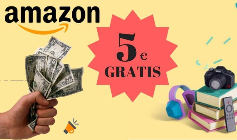 amazon 5 euros gratis SuperChollos