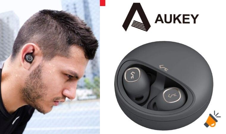 oferta AUKEY Auriculares Bluetooth baratos SuperChollos