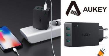 oferta AUKEY Cargador USB barato SuperChollos